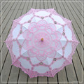 Chinese Handmade Lace Sun Umbrella Parasol Embroidery Wedding Umbrella Decoration For Bridal Umbrella Ombrelle Mariage 9Colors