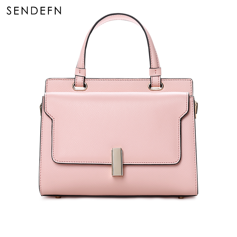 Fashion Crossbody Bag Casual Shoulder Bags Women Small Split Leather Messenger Bags Ladies Simple Handbag Women Pink Black