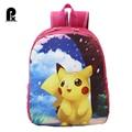 2016 Hello Kitty Female Pokemon go game kids backpack cartoon anime Pikachu Double Shoulder Girls school bags ac a dos enfant px