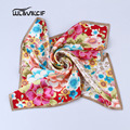 100% Natural Silk Scarf Women Square ladies scarves Satin stoles headscarf Female foulard Ring Neckerchief Bandana 53x53cm pz07