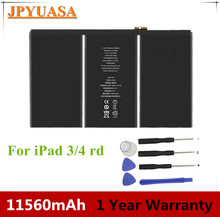 3.7V 11560mAh Original A1389 Laptop Battery For Apple iPad 3 3RD A1403 A1416 A1430 with one year warranty цена 2017