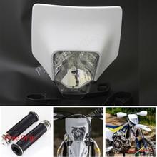 цены Papanda Motocross Headlight Supermoto Headlamp Fairing Dual Sport for Husqvarna FE 250 350 450 501 TX 125 TE 125 150 250 300