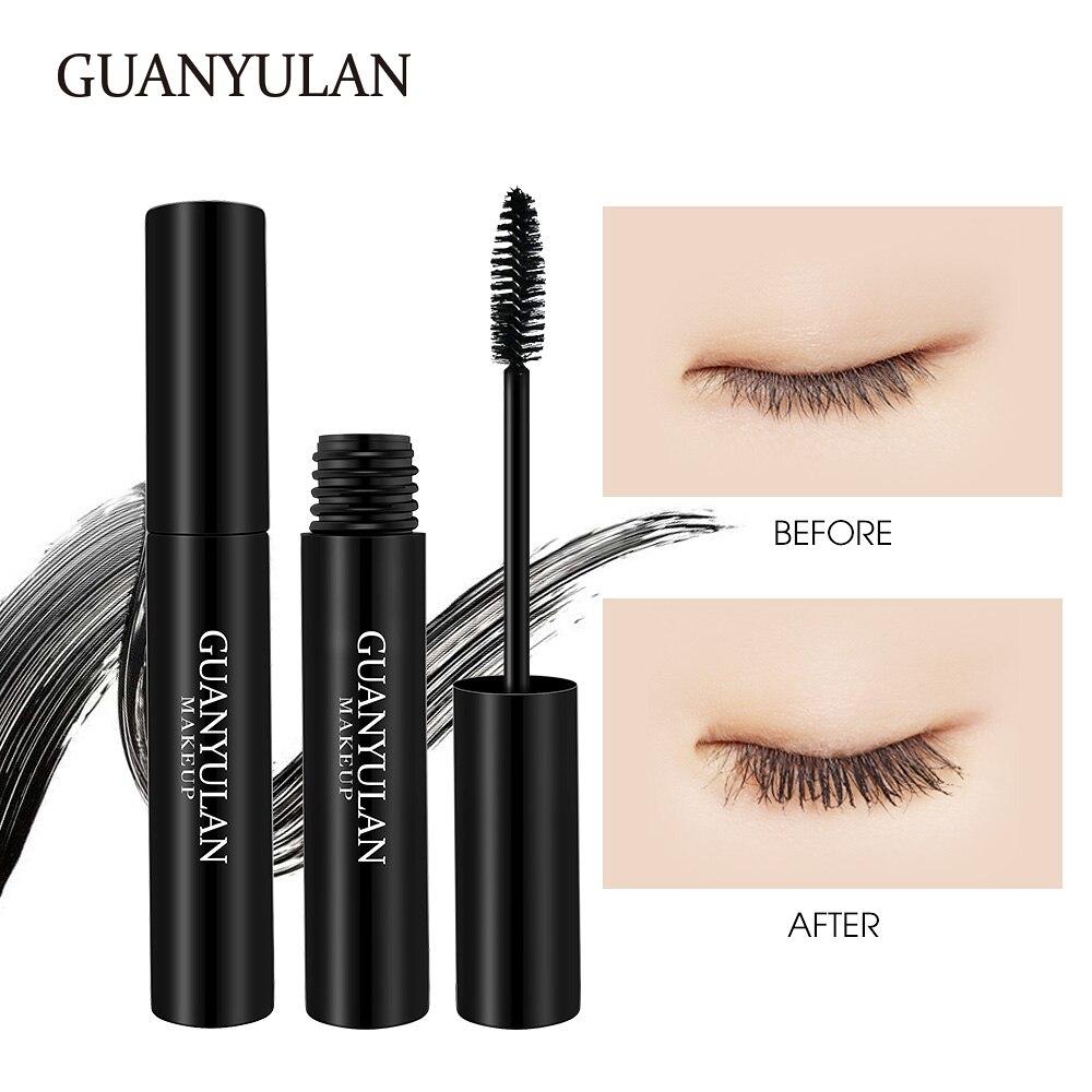 GUANYULAN 3D Fiber Lashes Thick Lengthening Mascara Long Black Lash Eyelash Extension Eye Lashes Brush Makeup Pro Eye-Cosmetics