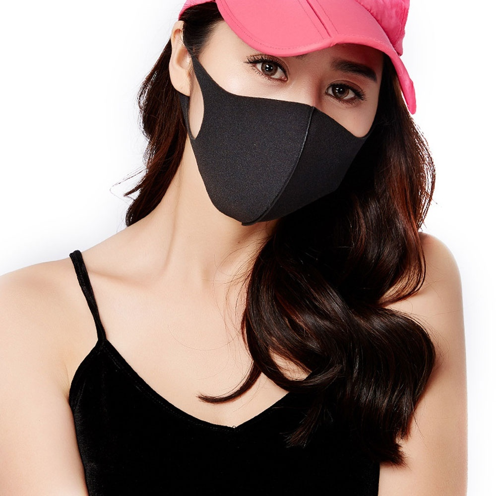 3Pcs/Set Unisex Anti-dust Solid Multi Colors Anti-allergy Sponge Earloop Face Mouth Mask Muffle