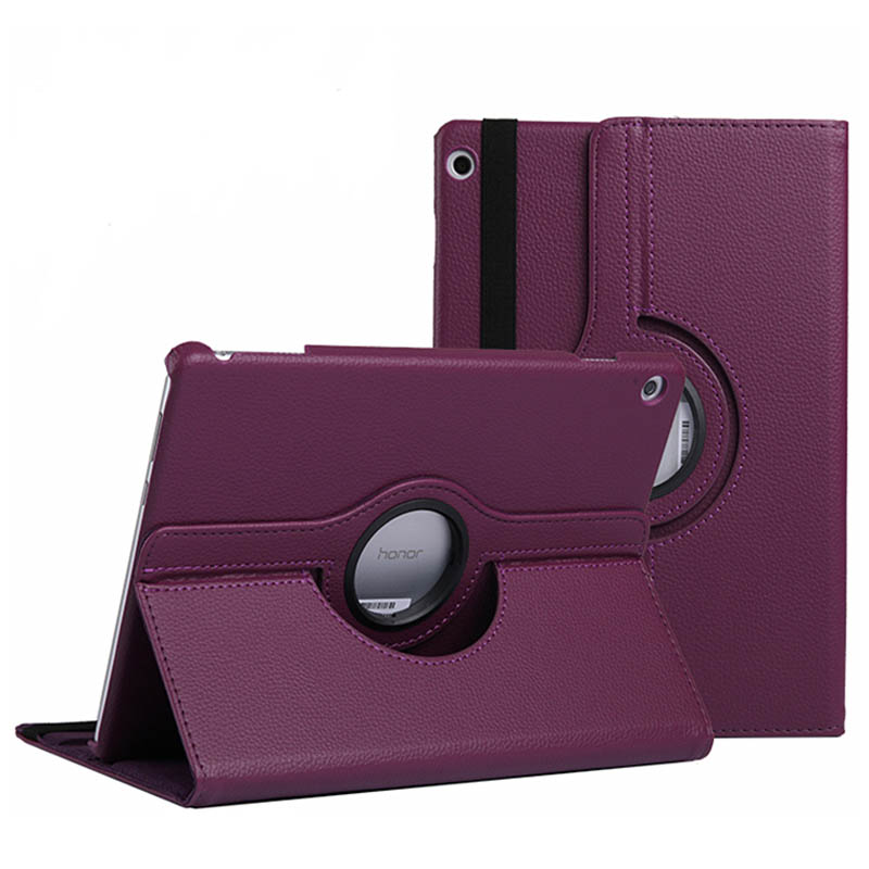 360 Degree Rotating PU Leather Flip Cover For Huawei MediaPad T5 10.1 Case AGS2-W09/L09/L03/W19 Tablet Stand Folding Folio Cases