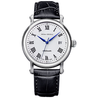 Genuine Seagull watches 819.368  Roman Numerals Guilloche Onion Crown Blue Hands Exhibition Back Automatic Men's Watch