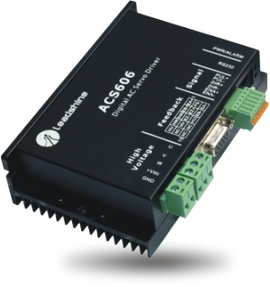 Leadshine AC servo driver ACS606 work at 24-60VDC out 200W with BLM57180-1000 Brushless servo motor 180W