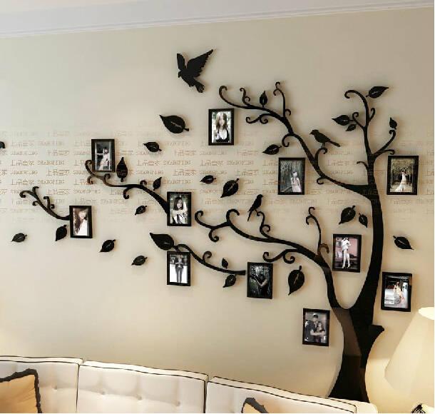 online shop new arrival crystal acrylic frame tree bird 3d wall