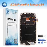Adjust Brightness LCD For Samsung Galaxy S4 I9500 I9505 I337 LCD Display Touch Screen Digitzer Glass