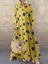 Boho maxi  dot  dress