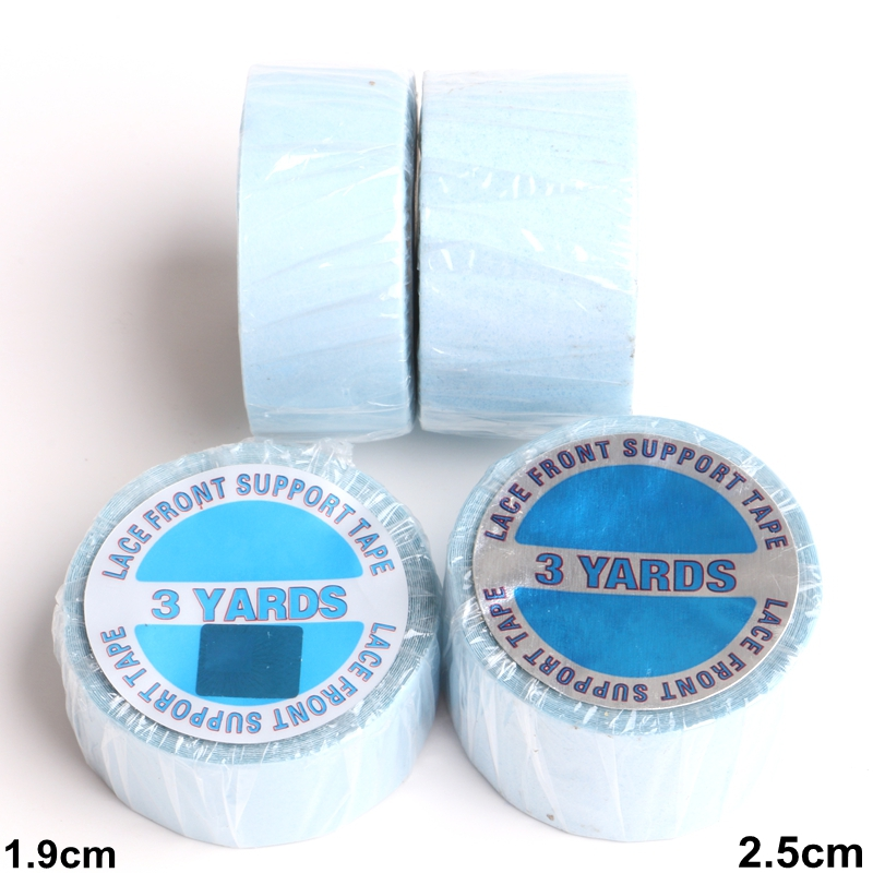 HARMONY 5 Rolls 3 Yards 1 9CM and 2 5CM Wide Blue Double sided Super Tape