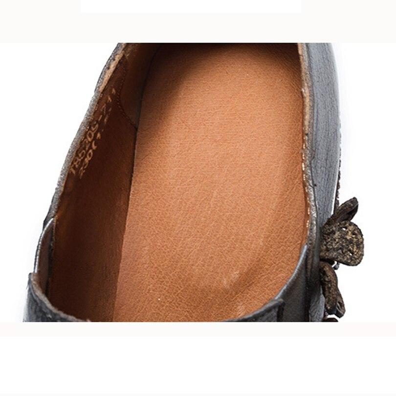 Femme Pompes Cuir Caoutchouc Coffee Classiques Dames Fleurs Front Rond 2018 Véritable Naturel Talons Bande Élastique Chaussures Bout Vache gray En Femmes XwXq7FY