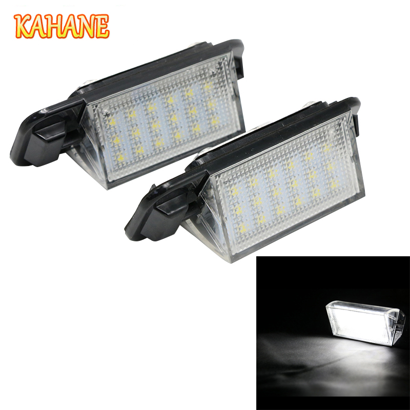 KAHANE 2x LED Car License Plate Light Lamp 18SMD White Error Free For BMW E36 M3 318i 318is 318ti 320i 323i 325i 325is 328i 2x e marked obc error free 24 led white license number plate light lamp for bmw e81 e82 e90 e91 e92 e93 e60 e61 e39 x1 e84