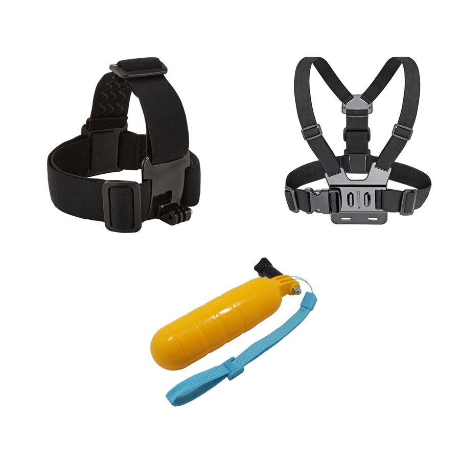Brust + Kopf Gürtel + Bobber Schwimm, mount Für gopro hero 5 4 zubehör Set SJCAM SJ4000 Action sport Kamera Gehen pro yi 4 karat gehen pro