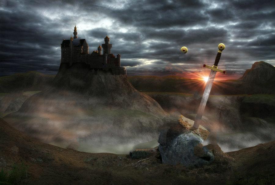 3d Painting Legendary Castle Camelot King Arthur