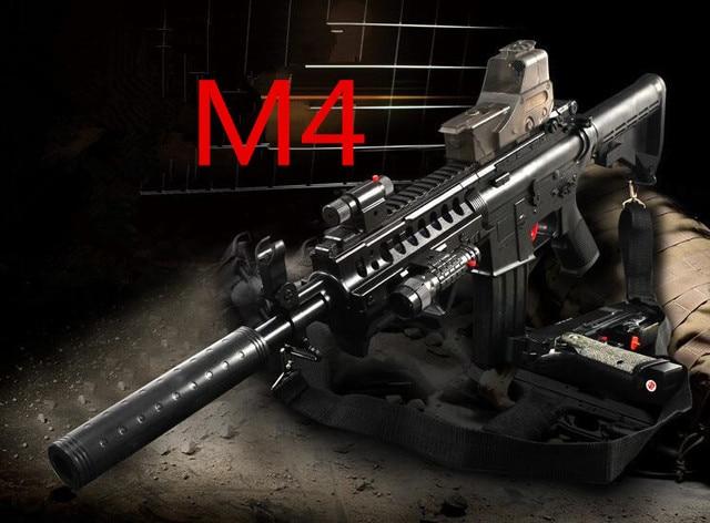 Big sale M4 Electric Water Toy Gun CS-213  Plastic Interactive Toy Guns Cool Lighting Infrared Submachine Children Gifts