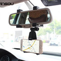 Sostenedor del Teléfono del coche, INSOU 360 Grados de Coche Universal Ajustable Espejo retrovisor Montar Soporte para Teléfono Móvil Soportes Para Smartphones