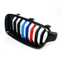 3 Colored Sport Car Front Plastic Kidney Grill Bar Cover For BMW 3 Series F30 2013 2014 2015 8 Bars