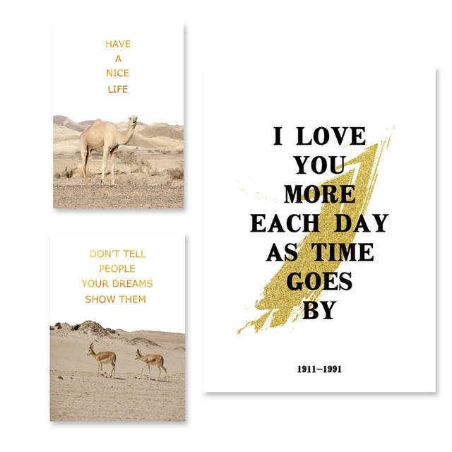 landscape wall art motivational quotes poster animals canvas