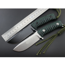 GP FX131 OEM High quality Hunting Straight knife D2 fixed blade 60 HRC micarta handle fox survival camping rescue knife EDC TOOL