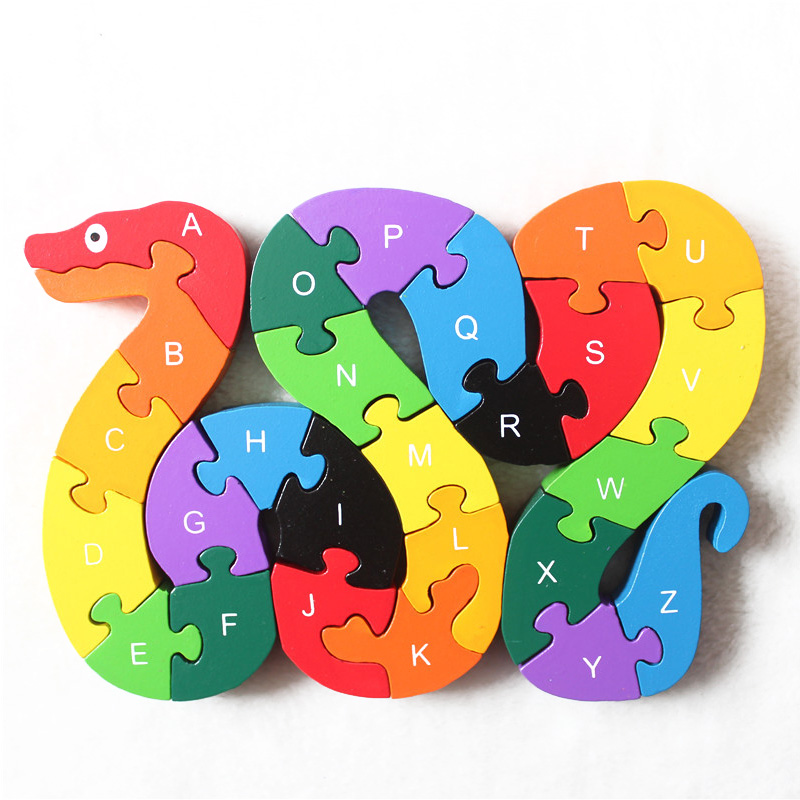 Wooden Puzzle Jigsaw Toys For Children Cartoon Animal Vehicle Wood Puzzles Intelligence Kids Baby Early Educational Toy