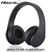 Hisonic bluetooth font b earphone b font Wireless Stereo Foldable Earbuds Microphone casque audio auriculares Headset