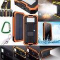 Lâmpada à prova d' água 300000 mAh Solar Portátil Carregador Dual USB Banco de Potência Da Bateria