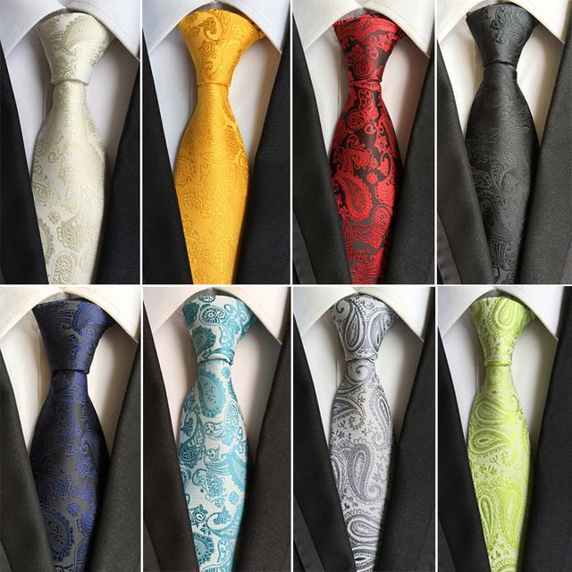 Corbata de Seda con diseño de Cashmere