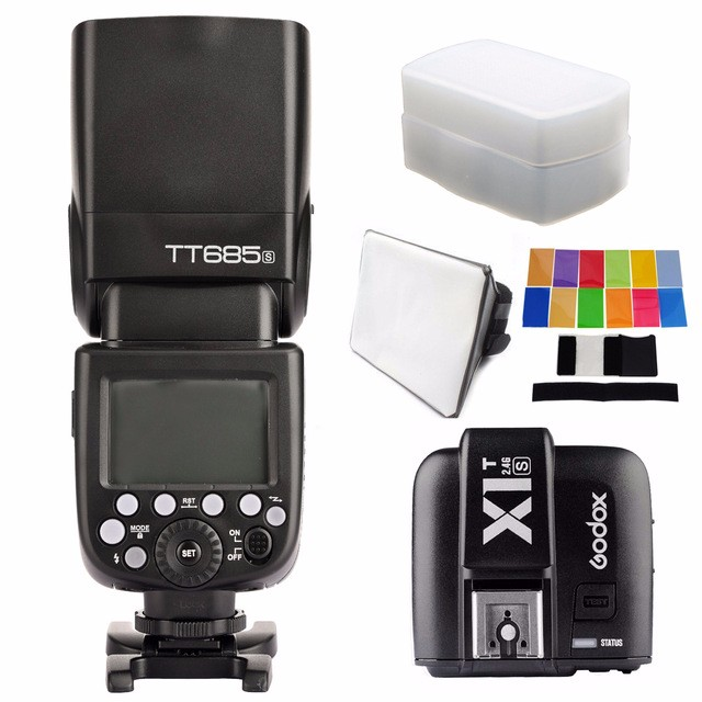 Godox TT685S 2.4G HSS TTL II GN60 Camera Flash+X1T-S Wireless Trigger for Sony A7 A7R A7S II A6000 A6300++ gift KIT