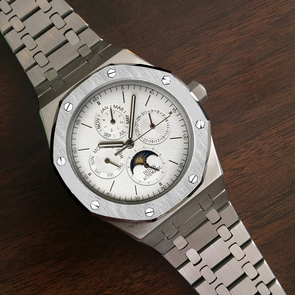 DIDUN Automatische Uhr Männer Mechanische Uhr Top Luxus Marke Männlichen Mond Phase Tauchen Kalender Armbanduhr Wasserdicht-in Mechanische Uhren aus Uhren bei  Gruppe 3