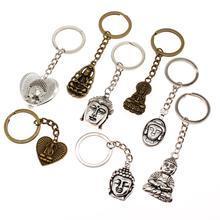 Hot Sale New Religious Jewelry Key Chain Creative Men Buddha Statue Car Keychain Handmade Gifts Souvenirs