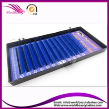 New Products,0.07 J/B/C/D curl All  Length Blue color Eyelash Extension ,Fashion False eyelashes