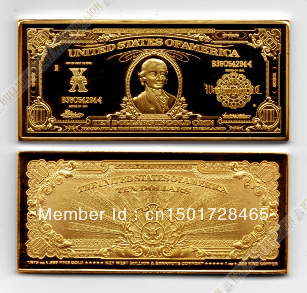 Free Shipping 2013 1 Oz 1907 Series 10 Hillegas Gold Certificate