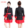 LG Sexy Cosplay Kimono Costumes for Women Cosplay Princess Costume Satin Dress Game Solid Black & Red Clothing Out FREE shipping