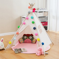 Indian Children Play Tent Cotton White Toy Tipi Tent For Kids Brinquedos Para Bebe Cartoon Baby