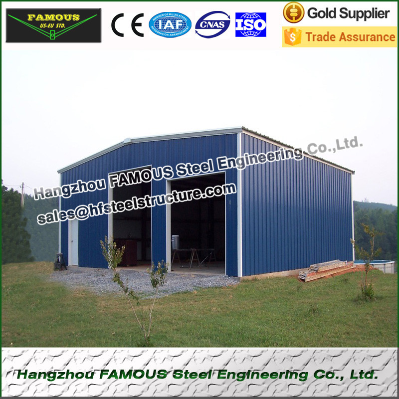 20ft*21ft*6ft Prefabricate Steel Structure Garage For Carport