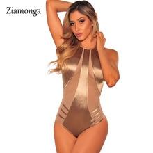 Ziamonga боди, женские боди, костюмы для женщин, сексуальные комбинезоны, боди-топ, женские сексуальные сетчатые боди с открытыми плечами, повседневные Комбинезоны