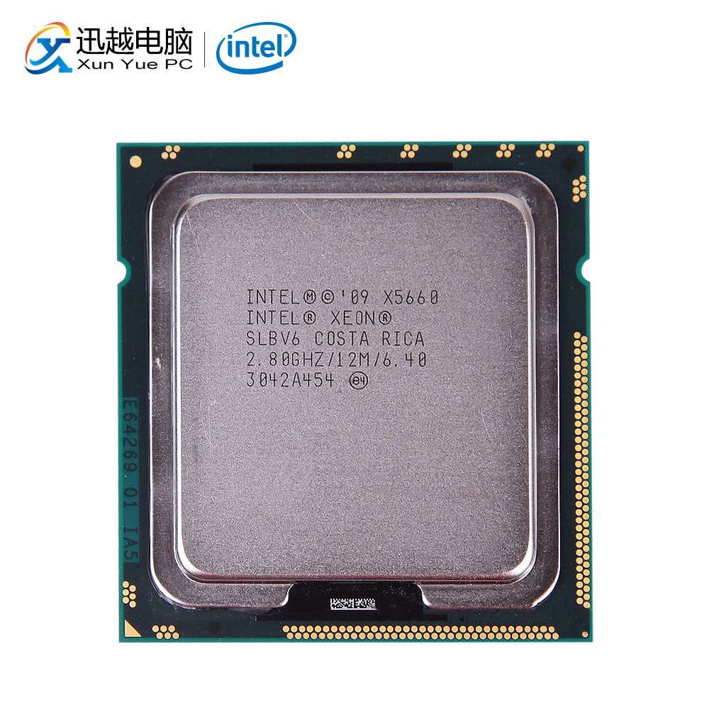 Intel Xeon X5660 Desktop Processor Six-Core 2.8GHz L3 Cache 12MB LGA 1366 SLBV6 5660 Server Used CPU