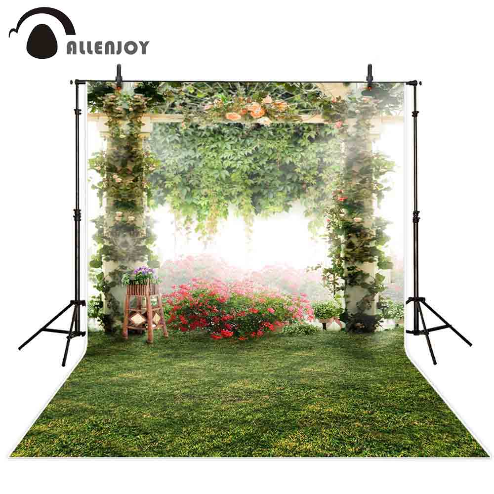 Decor Photobooth Allenjoy Flower Garden Photography Background Nature Wedding