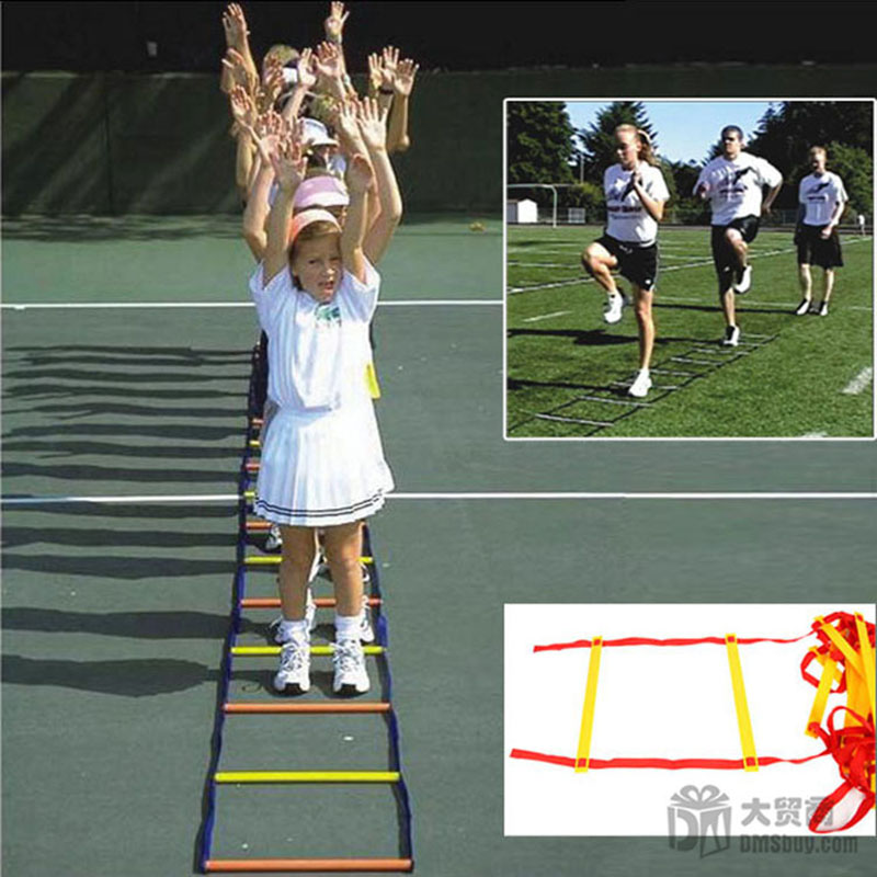 4M 9 Rung Agility Ladder Kids Outdoor Toy Essential Footwork Training For All Sports Soft Ladder Children Cooperation Games new durable 9 rung 16 5 feet 5m agility ladder for soccer and football speed training with carry bag fitness equipment ea14