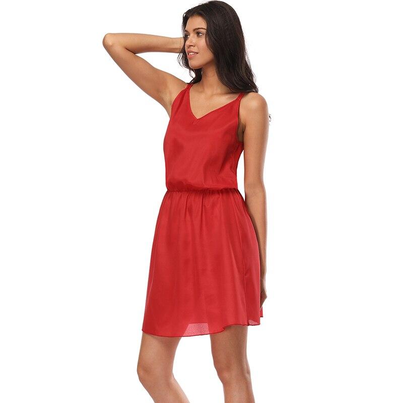 Sexy Girls Women Summer Sleeveless Spaghetti Straps Sleep Wear Ladies Nightgown Lingerie Nightdress Sleepwear Female Robe Pijama