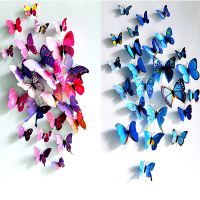 4004f2e28e77a2 New Removable 12pcs 3D Beautiful Butterfly Home Decors Art DIY Wall  Stickers Butterflies Classic Natural Beauty