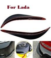 2PCS Car Front Rear Corner Bumper Sticker Crash Bar Strip For Lada Chance Granta Kalina Priora