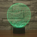 New Arrival Amazing 3D Illusion Led Table Lamp Night Light with Magic Circle Full Numbers Shape