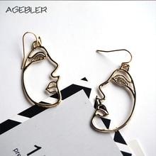 Фотография Fashion Women Drop Earrings Big Mask Earrings Gold Color Fashion Jewelry for Female Girls Gifts Trendy Boho Style Accessories