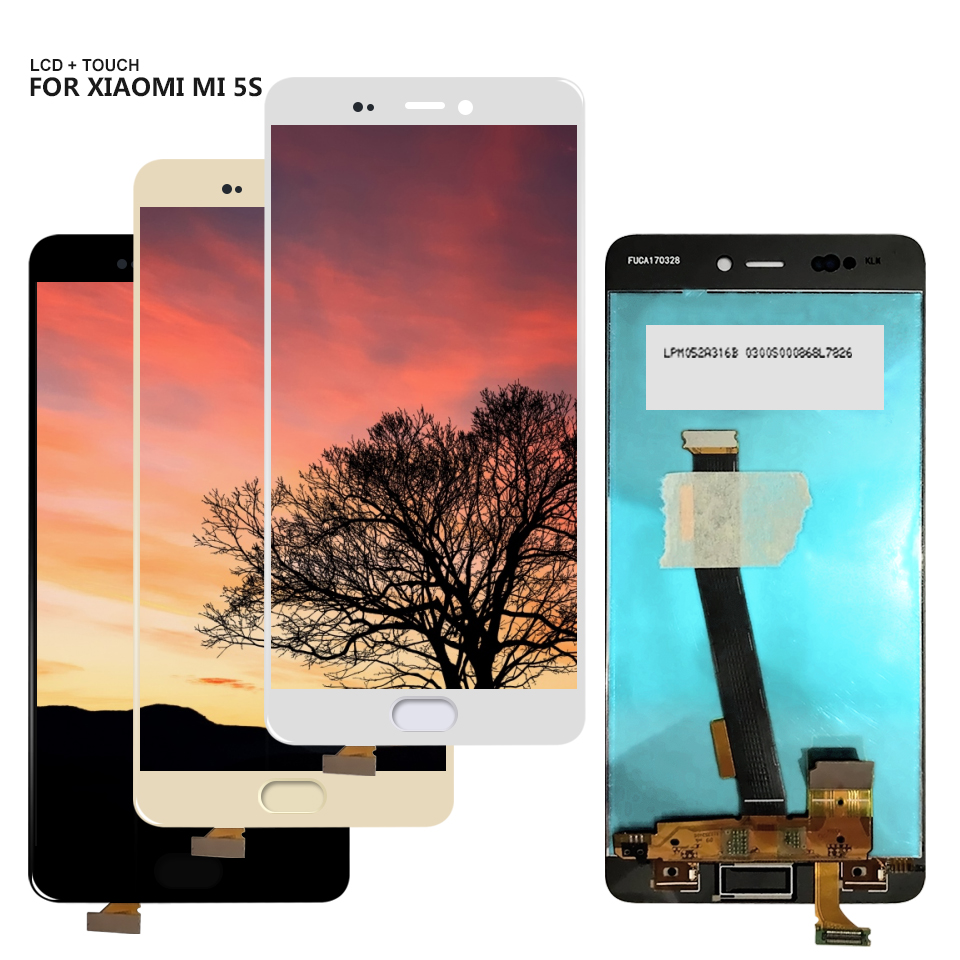 For Xiaomi 5S Mi5S LCD Display Touch Screen Panel Glass Digitizer Assembly For Mi 5s LCD