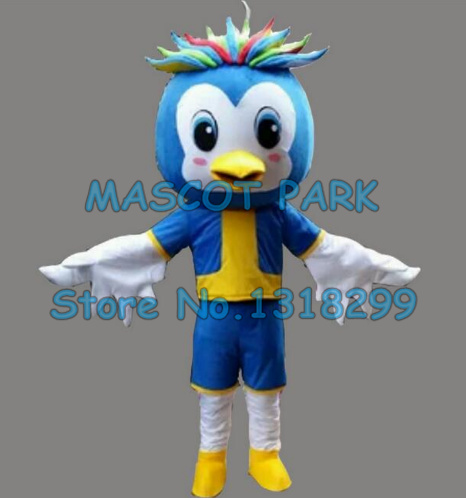 little blue luky bird mascot costume adult size cartoon character birds theme school performing props carnival fancy dress