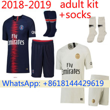 5f64e44e307 Free patch 2018 PSG Thai AAA Top quality football jerseys Qualit Men Soccer  jersey 18 19 Home blue Away red 3RD white shirt