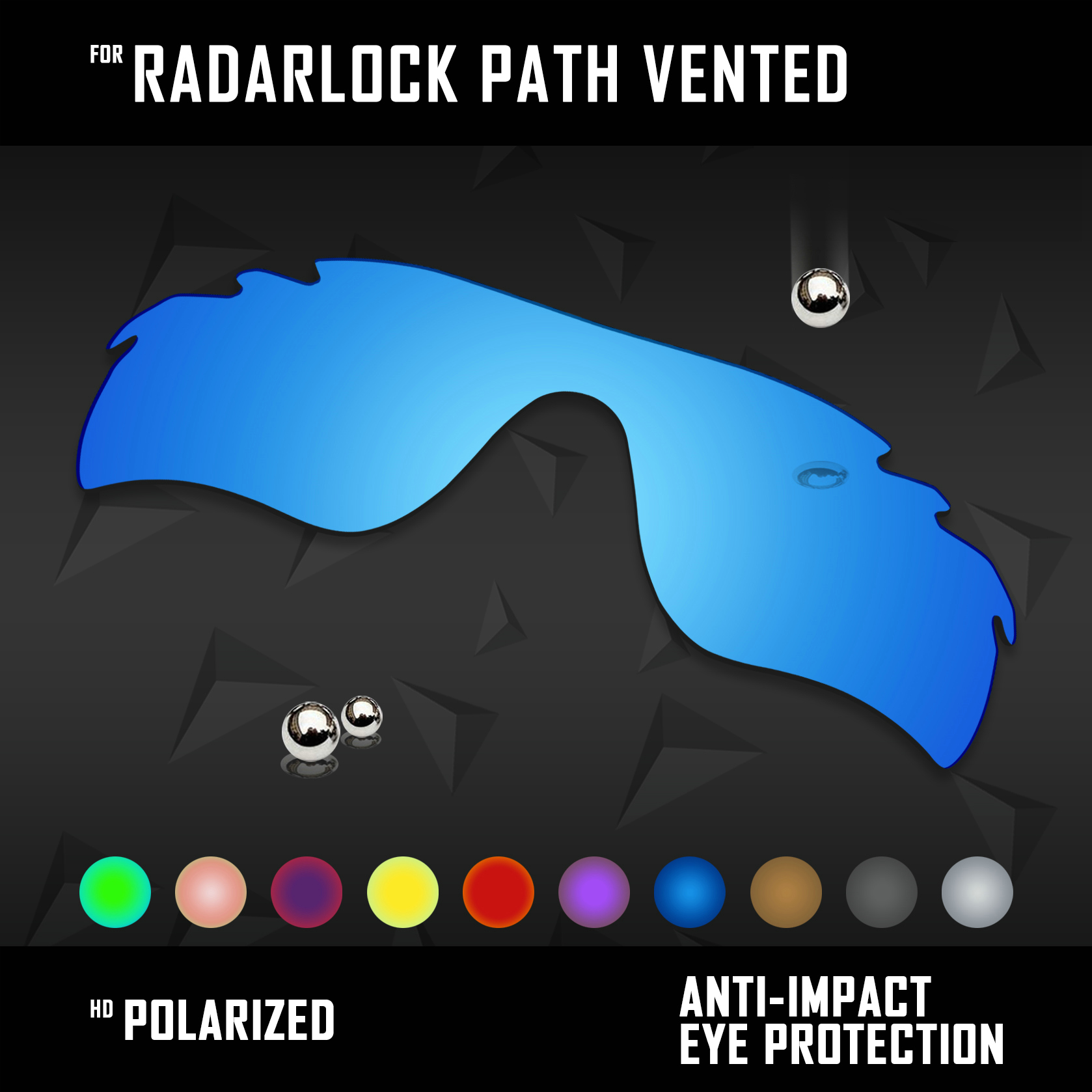 OOWLIT Lenses Replacements For Oakley Radarlock Path Vented OO9181 Sunglasses Polarized - Multi Colors