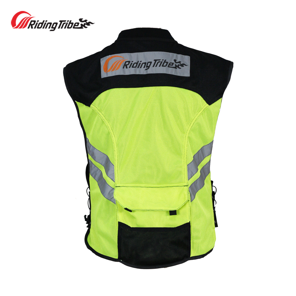 Image 2 - Motorcycle Jacket Reflective Vest High Visibility Night Shiny Warning Safety Coat for Traffic Work Cycling Team Uniform JK 22Jackets   -